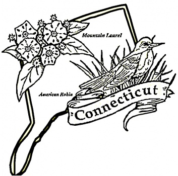 coloring pages of connecticut - photo#3
