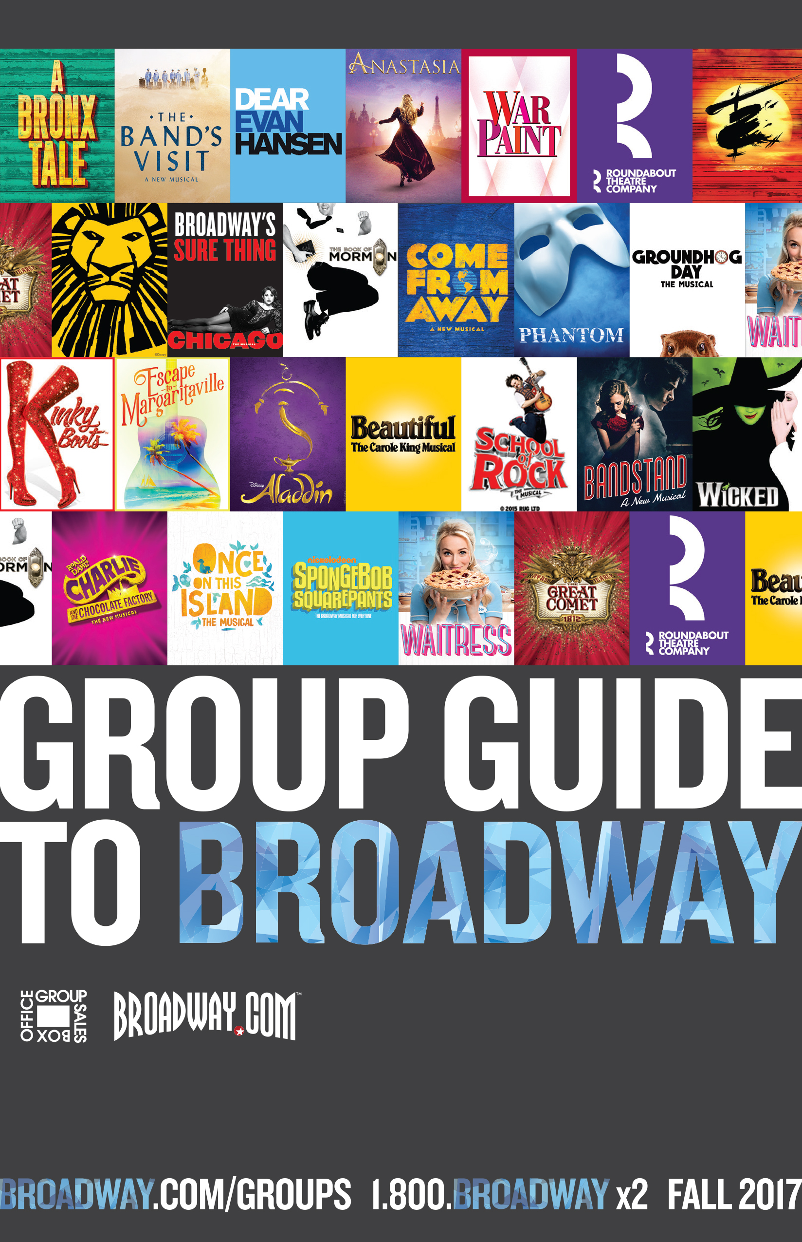 Fall 2017 Group Guide to Broadway