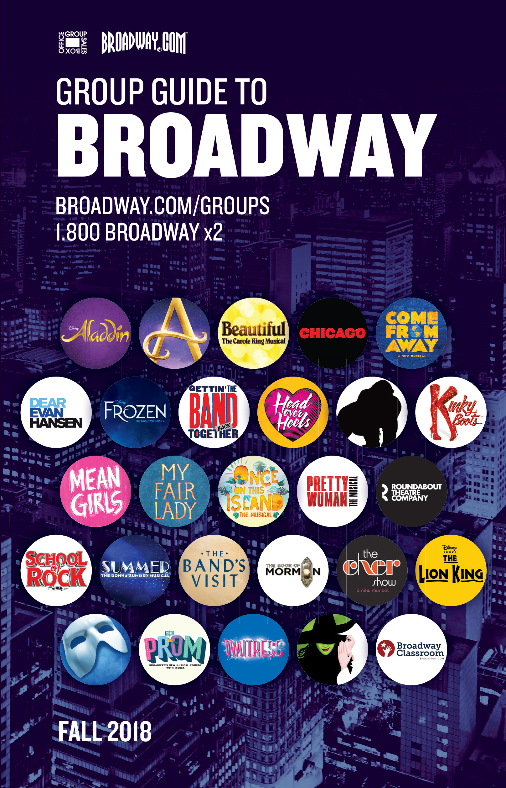 Fall 2018 Group Guide to Broadway